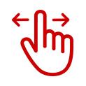 Deslizar con la mano
